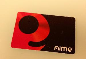 My poor little beat-up Aime card...